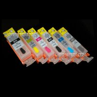 Befüllbare Patronen für PGI 525 BK CLI 526 GY grey Grau MG 6150 6250 8150 8250