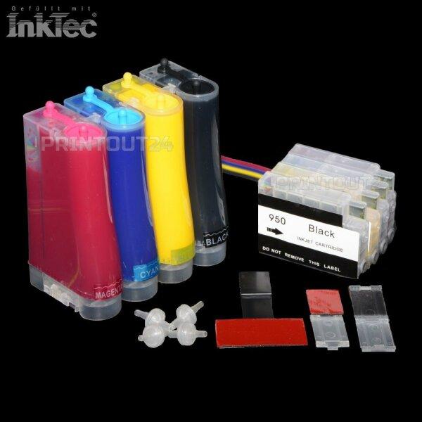 CISS BLACK YELLOW fill in refill cartridge Patrone für HP 950XL 951XL 8616