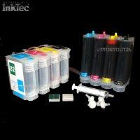 CISS Nachfüllpatrone Tinte refill ink set für HP 10XL 82XL BK Y M C