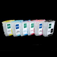 CISS refill cartridge für HP 84 11 82 BK Y M PM PC C 5016 5017 4836 4837 4913