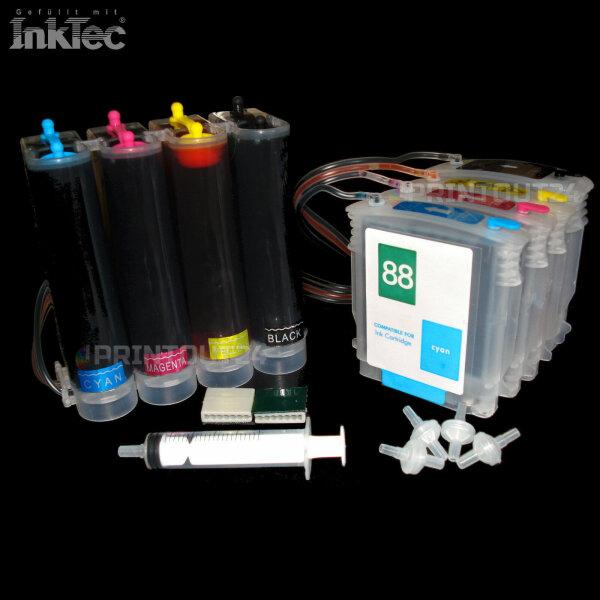CISS XL BLACK YELLOW MAGENTA CYAN für HP 88 L7000 L7480 L7580 L7590 L7680 L7780