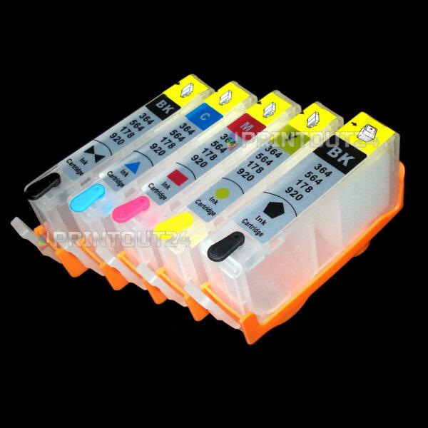 mini CISS für HP Photosmart B109 a n B209a C309g B8550 B8553 B8558 C5324 C5370