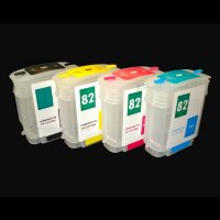 mini CISS refill cartridges befüllbare Patrone Dauerdrucksystem 82 XL für HP