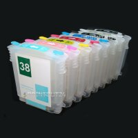 Refill befüllbare für HP 38 XL Longprint Nachfüll Drucker Patrone cartridge