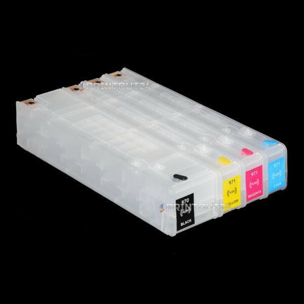 Wiederbefüllbare CISS Patrone refill cartridge für HP 970XL 971XL CN621A CN625A