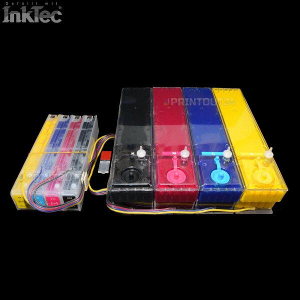 XXL CISS Tinte refill ink set Nachfülltinte Nachfüllset kit für HP 970XL 971XL