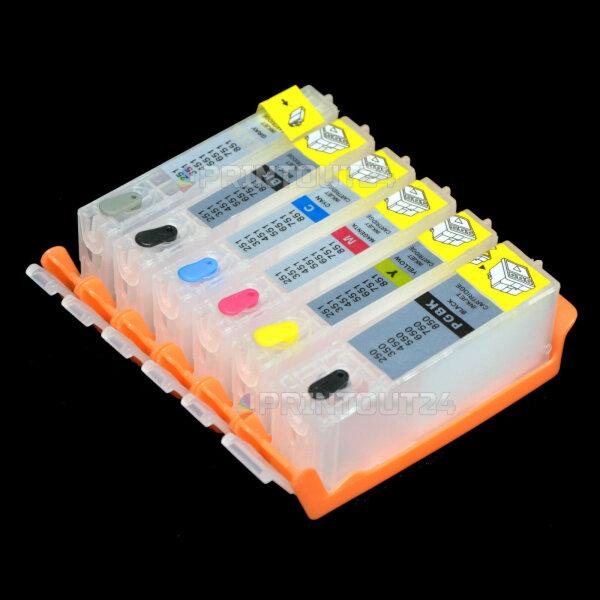 Wiederbefüllbare Fill In Patrone für PGI-570 CLI-571 BK Y M C GY Grau cartridge