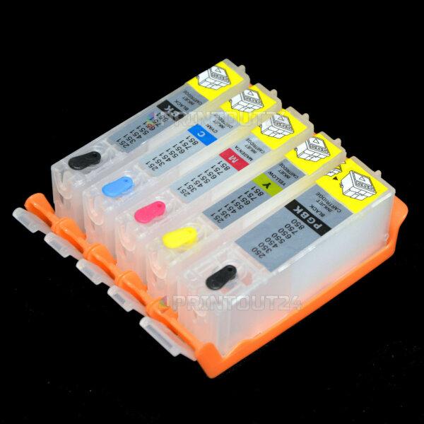 Befüllbare Quick Fill In cart für Canon PGI-570BK CLI-571BK Y CLI-571M CLI-571C