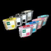 Befüllbare Fill In Refill CISS Tinte ink Patronen 38...