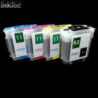 mini CISS InkTec® Tinte refill ink kit 82 11 XL BLACK...