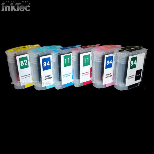mini CISS ink Tinte für HP 84 11 82 cartridge Patrone Designjet 10 20 50 120