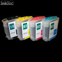 mini CISS Tinte refill ink Nachüll Set für HP 10 82 BLACK YELLOW MAGENTA CYAN