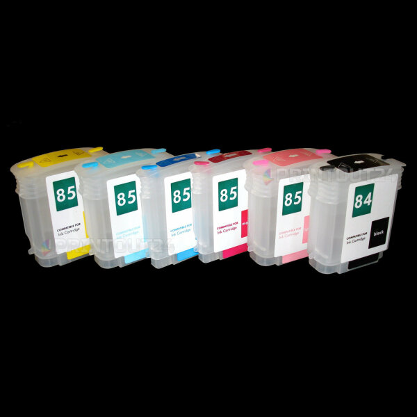 Wiederbefüllbare Nachfüll Fill In refill für HP 84 85 XL Patrone cartridge C5016